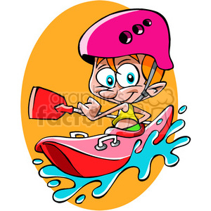 guy kayaking cartoon clipart. Royalty-free image # 391495
