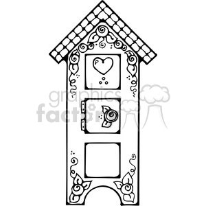 Birdhouse Cupboard clipart. Royalty-free image # 391618