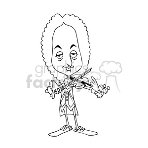 Vivaldi bw cartoon caricature clipart. Royalty-free image # 391708