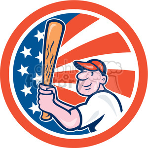 baseball player batting front kick in circle shape clipart. Royalty-free icon # 392360