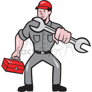 mechanic punch wrench shape clipart. Royalty-free image # 392380