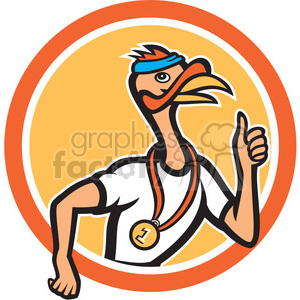 turkey runner side right in circle shape clipart. Royalty-free image # 392390