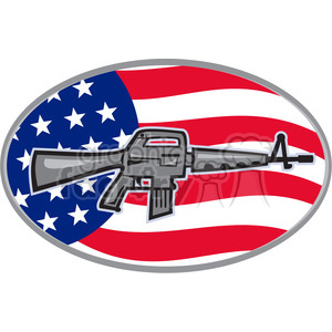 armalite rifle m 16 shape clipart. Royalty-free image # 392400
