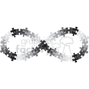 infinity symbol vector puzzle pieces bipolar clipart. Commercial use image # 392468