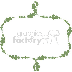green floral frame swirls boutique design border 13 clipart. Royalty-free image # 392502