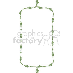 green floral frame swirls boutique design border 12 clipart. Royalty-free image # 392507