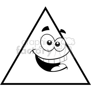 geometry triangle cartoon face math clip art graphics images clipart. Royalty-free image # 392515