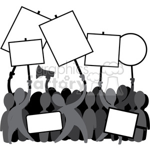 protesters protesting people clipart. Royalty-free image # 392545