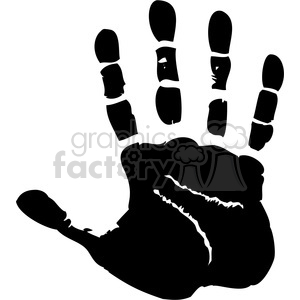 right handprint clipart. Royalty-free image # 379601