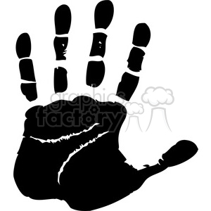 left handprint clipart. Commercial use image # 379600