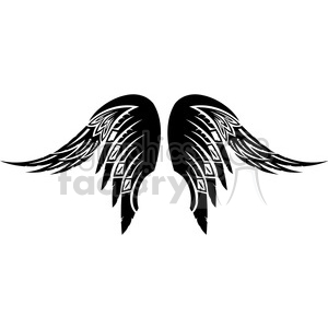 vinyl ready vector wing tattoo design 064 clipart. Royalty-free image # 392688