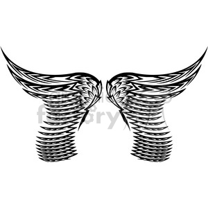 vinyl ready vector wing tattoo design 058 clipart. Royalty-free image # 392698