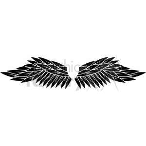 black wings clipart. Commercial use image # 392708