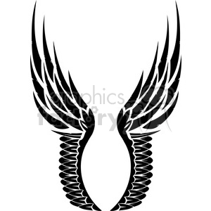 vinyl ready vector wing tattoo design 033 clipart. Royalty-free image # 392718