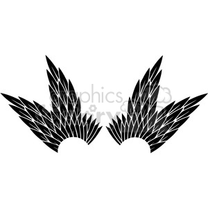 vinyl ready vector wing tattoo design 075 clipart. Commercial use image # 392728