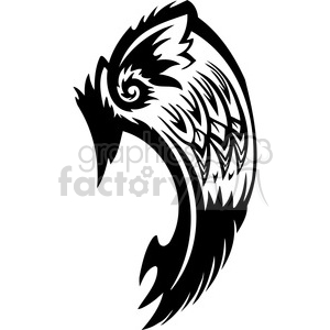 vinyl ready vector wing tattoo design 083 clipart. Royalty-free image # 392738