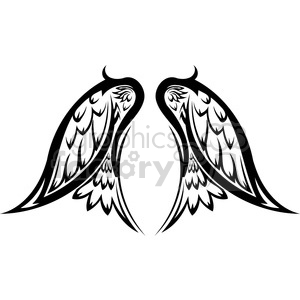 vinyl ready vector wing tattoo design 010 clipart. Commercial use image # 392748