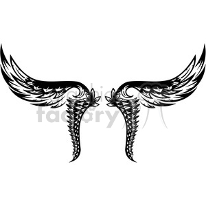 wing tattoo design clipart. Commercial use image # 392758