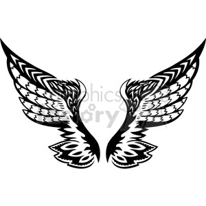 vinyl ready vector wing tattoo design 098 clipart. Royalty-free image # 392768