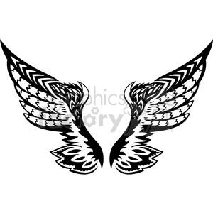 vinyl ready vector wing tattoo design 098