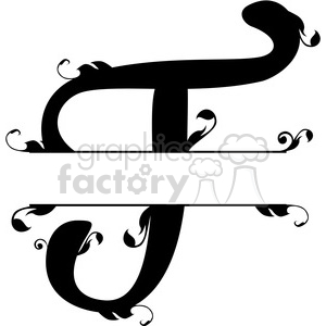 split regal t monogram vector design clipart. Royalty-free image # 392834