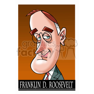 franklin d roosevelt color clipart. Royalty-free image # 392939