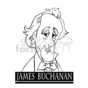 james buchanan black white clipart. Royalty-free image # 392962
