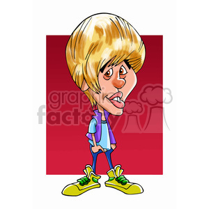 justin bieber color clipart. Royalty-free image # 393006