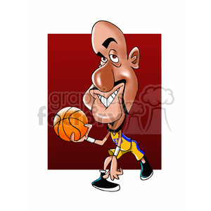 shaquille oneal cartoon clipart. Commercial use image # 393026