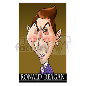 ronald reagan color clipart. Royalty-free image # 393036