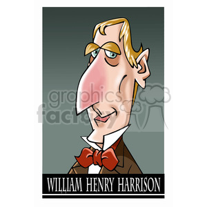 william henry harrison color clipart. Royalty-free image # 393056