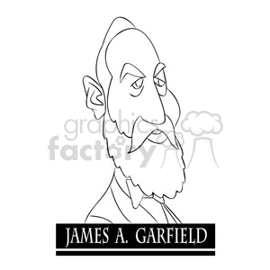 james a black and white clipart. Royalty-free image # 393205
