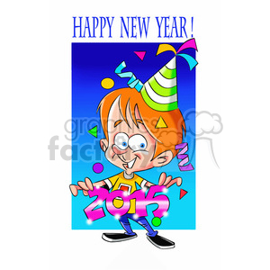 happy new year 2015 cartoon clipart. Commercial use image # 393381