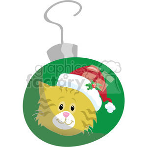 kitten christmas ornament 1 clipart. Royalty-free image # 393421