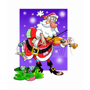 santa playing the violin clipart. Royalty-free image # 393509