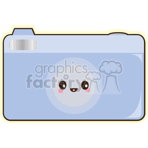 camera cartoon character clipart. Royalty-free image # 393539
