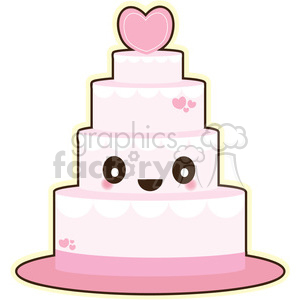 wedding cake cartoon character clipart. Royalty-free image # 393549