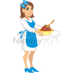 mother making dinner clipart. Royalty-free image # 393616