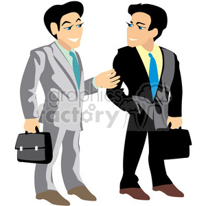 business professionals in suits clipart. Royalty-free image # 393630