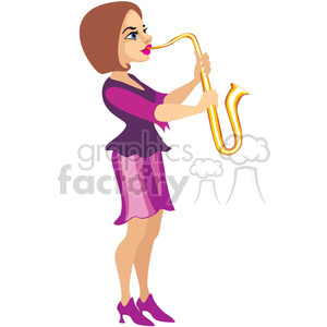 female musician clipart. Commercial use image # 393650