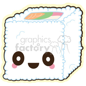 Sushi California roll vector clip art image clipart. Commercial use image # 393764