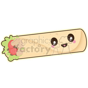 Burrito vector clip art image clipart. Commercial use image # 393784