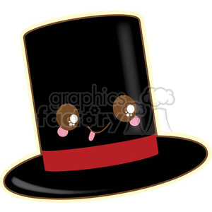 Top Hat vector clip art image clipart. Royalty-free image # 393804