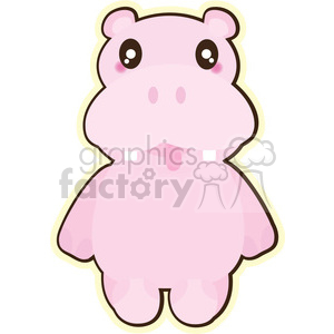 cartoon Hippo illustration clip art image clipart. Royalty-free image # 393844