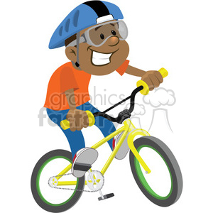 cartoon character person kid children kids people bike riding bicycle African+American