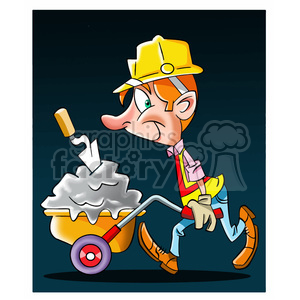cartoon brick layer clipart. Royalty-free image # 393920