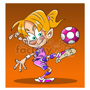 image of female kid playing soccer futbol femenino clipart. Royalty-free image # 393930