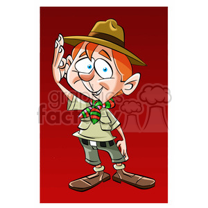 image of boy scout saludo boys cout clipart. Royalty-free image # 393960