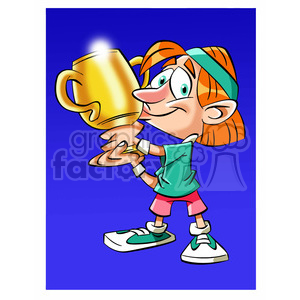 image of man holding trophy nino besando trofeo clipart. Royalty-free icon # 394050