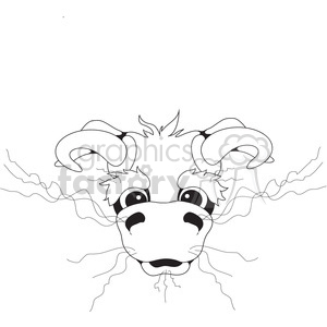 cartoon bull head clipart. Royalty-free image # 394100